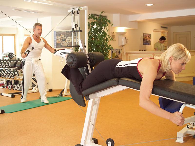 fitnessstudio sporthotel bergland