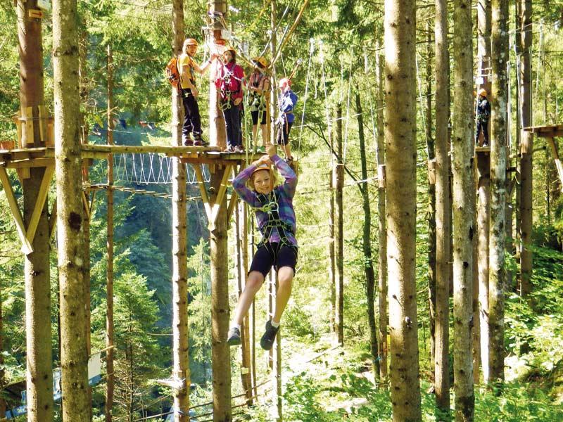 hochseilgarten klettergarten zillertal